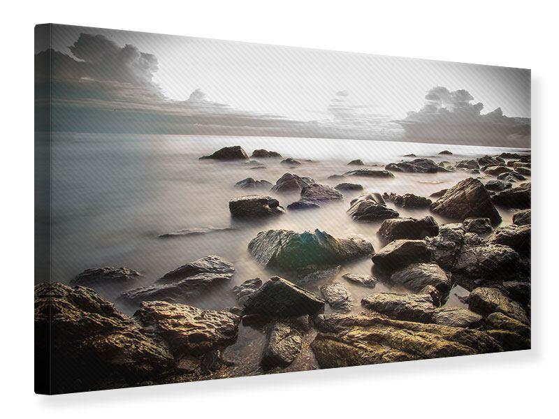 Leinwandbild Steine am Strand
