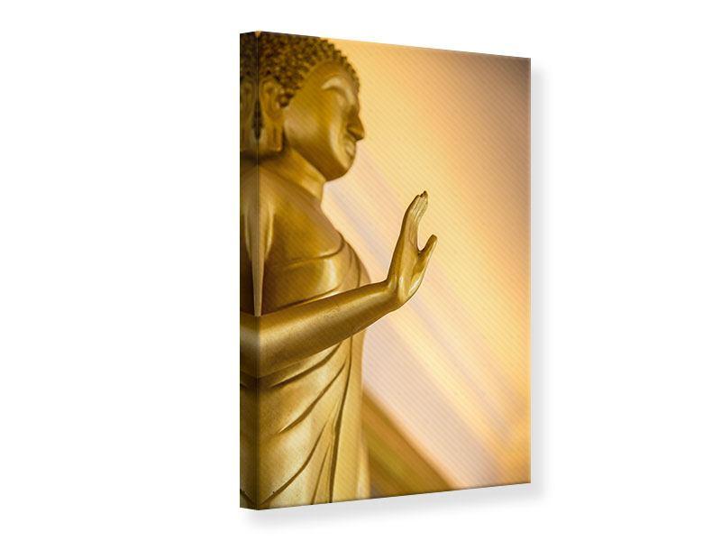 Leinwandbild Buddha-Statue