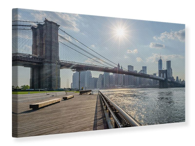 leinwandbild brooklyn bridge jetzt online bestellen. Black Bedroom Furniture Sets. Home Design Ideas