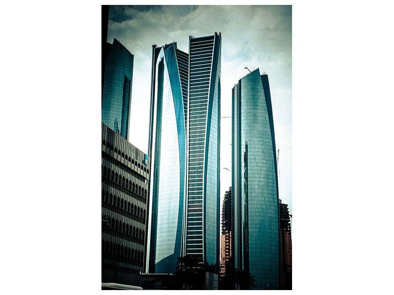 Leinwandbild Luxus Wolkenkratzer in Abu Dhabi