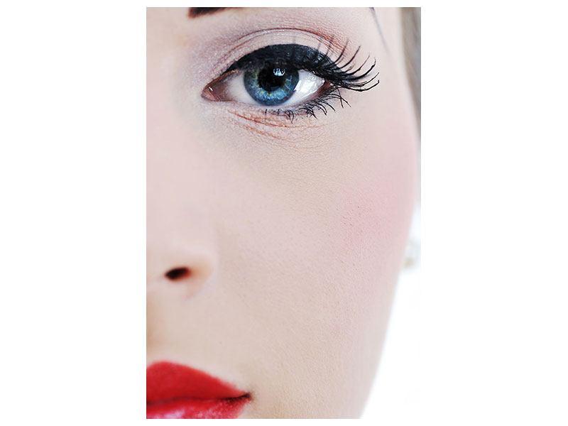 Leinwandbild Close Up Face