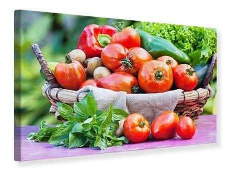 Leinwandbild Gemüsekorb