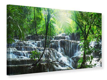 Leinwandbild Wasserfall Agua Azul