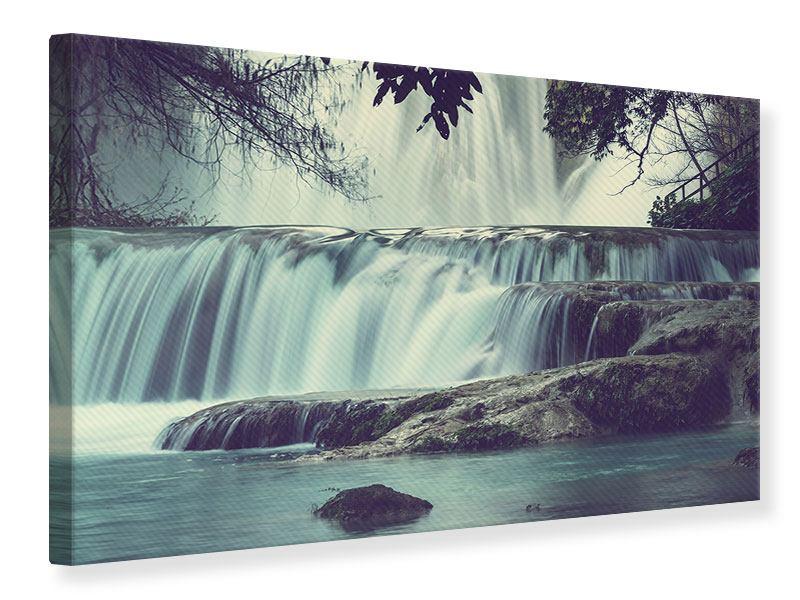 Leinwandbild Wasserfall Mexiko