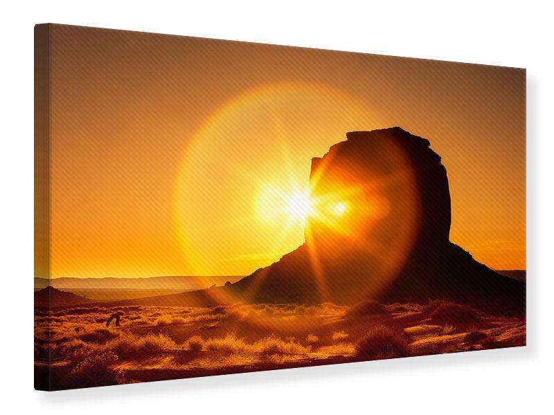 Leinwandbild Sonnenuntergang Monument Valley