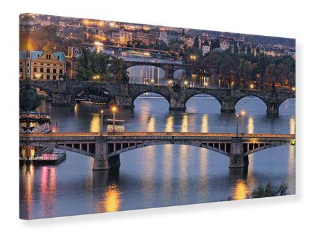 Leinwandbild Brücken in Prag
