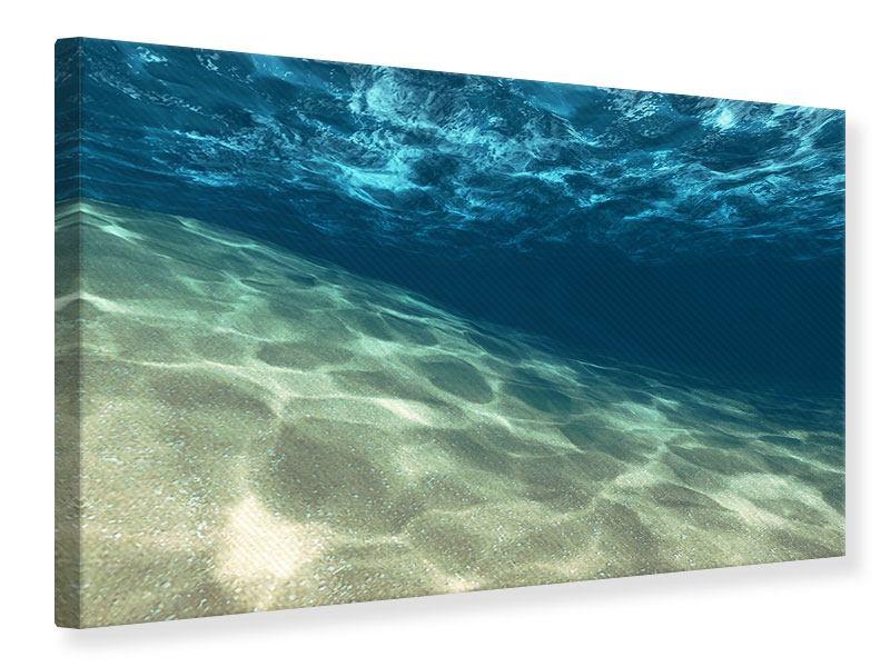 Leinwandbild Unter dem Wasser