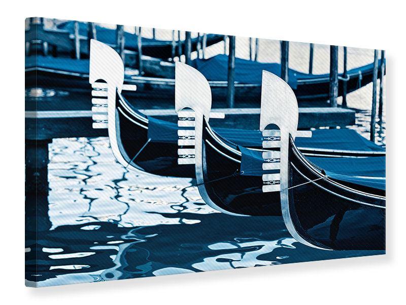 Leinwandbild Gondeln in Venedig