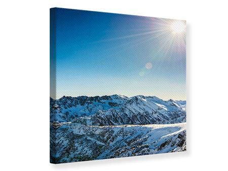 Leinwandbild Berge im Schnee