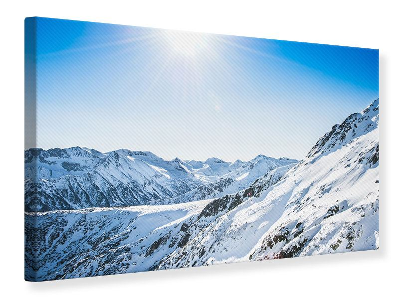 Canvas Print Mountain Panorama In Snow