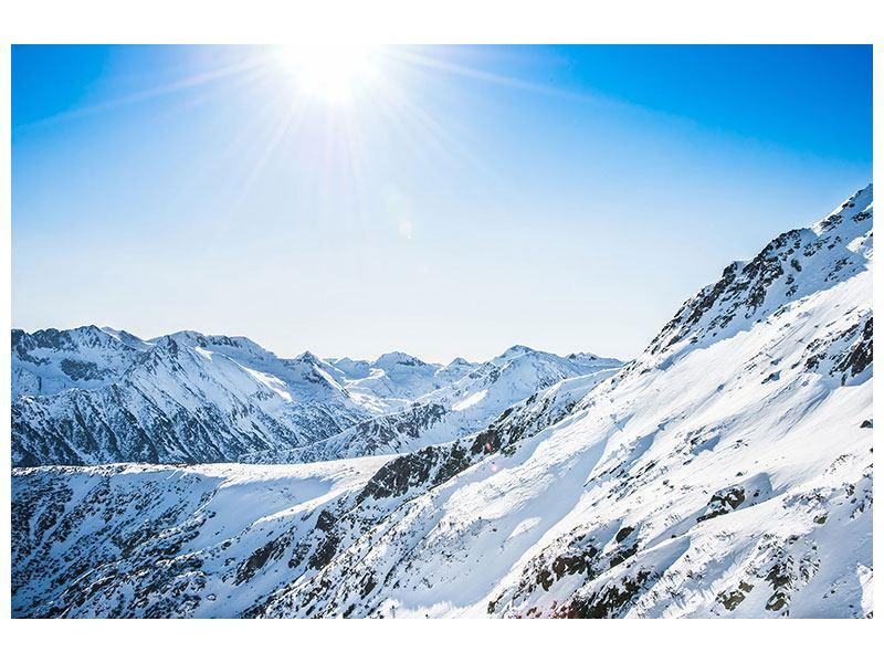 Leinwandbild Bergpanorama im Schnee