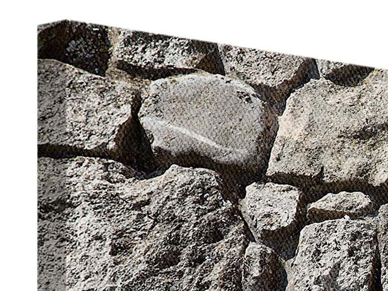 Leinwandbild Grosses Mauerwerk