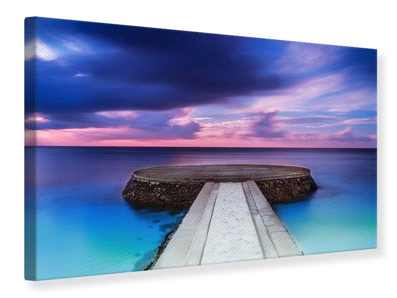 Leinwandbild Meditation am Meer