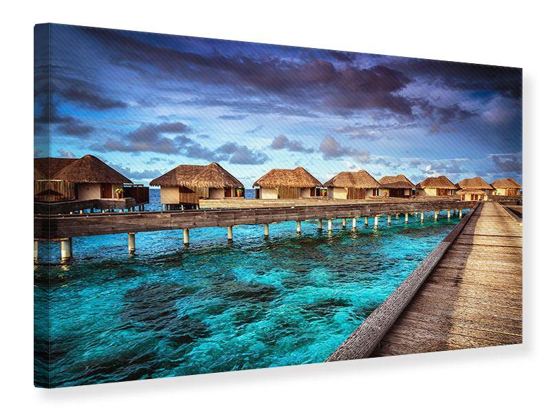 Leinwandbild Traumhaus im Wasser