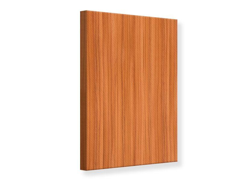 Leinwandbild Holzchalet