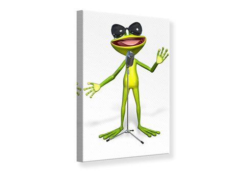 Leinwandbild Froschstar