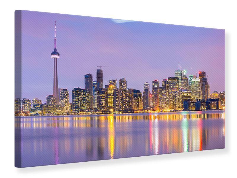 Leinwandbild Skyline Toronto bei Nacht