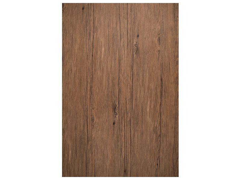 Leinwandbild Teak-Holz