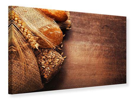 Leinwandbild Frische Brote