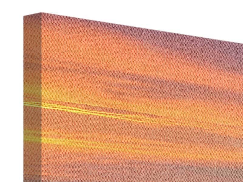 Leinwandbild 5-teilig Skyline Paris bei Sonnenuntergang