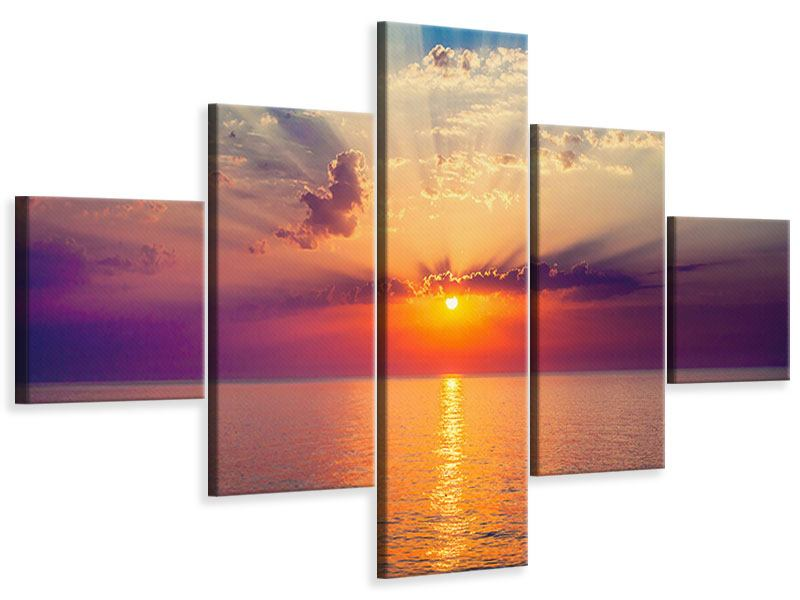 Leinwandbild 5-teilig Mystischer Sonnenaufgang