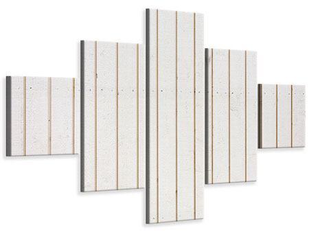 Leinwandbild 5-teilig Mediterranes Holz
