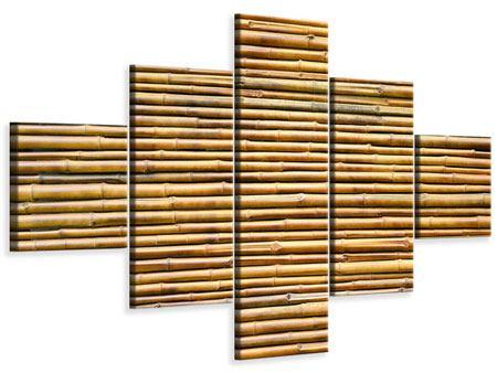 Leinwandbild 5-teilig Bambus