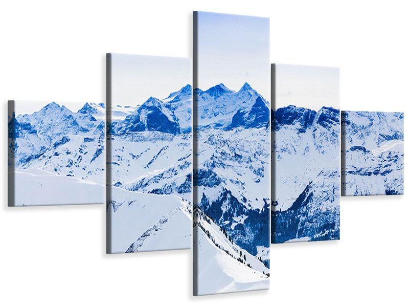Leinwandbild 5-teilig Die Schweizer Alpen