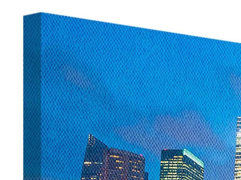 Leinwandbild 5-teilig Skyline Singapur im Lichtermeer