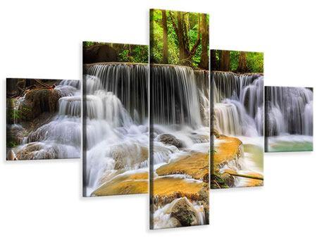 Leinwandbild 5-teilig Nationalpark Si Nakharin