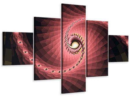 Leinwandbild 5-teilig Abstrakte Windungen