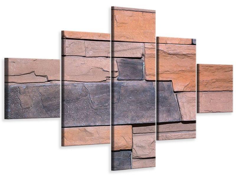 Leinwandbild 5-teilig Wall