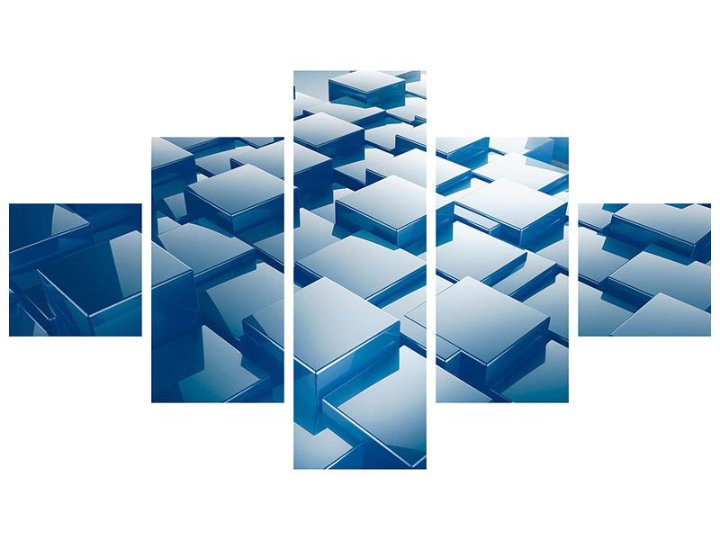 Leinwandbild 5-teilig 3D-Cubes