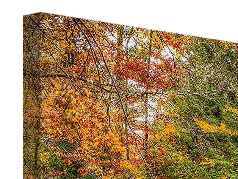 Leinwandbild 5-teilig Herbst beim Wasserfall