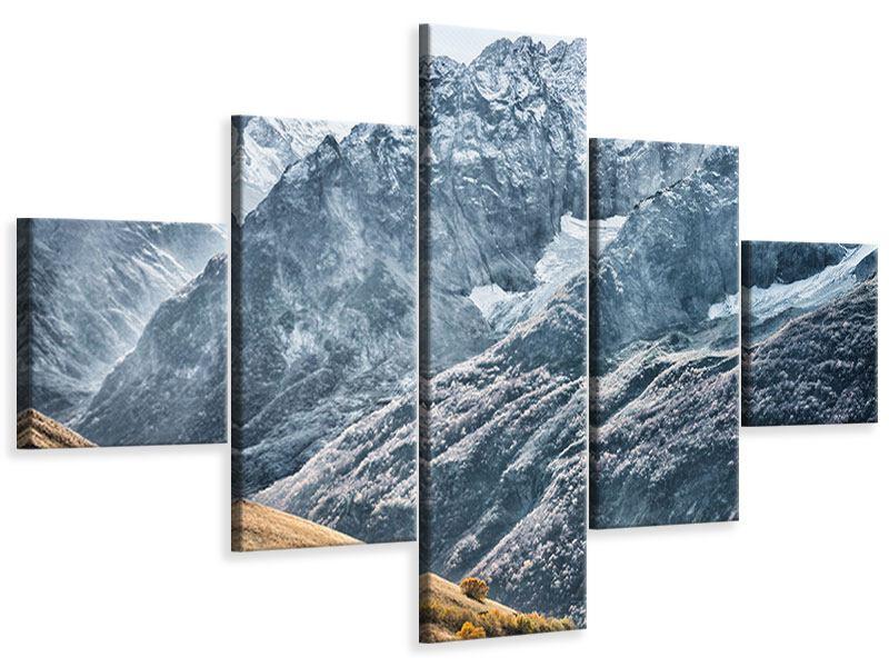 Leinwandbild 5-teilig Gigantische Berggipfel