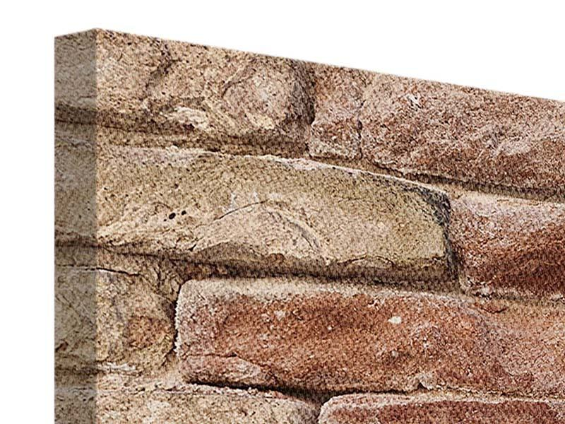Leinwandbild 5-teilig Loft-Mauer