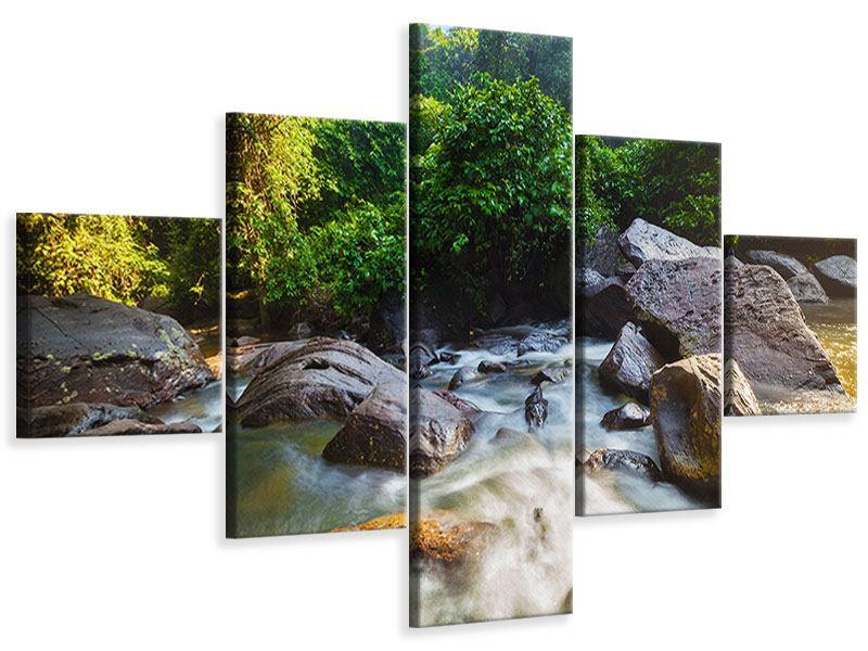 Leinwandbild 5-teilig Das Gewässer