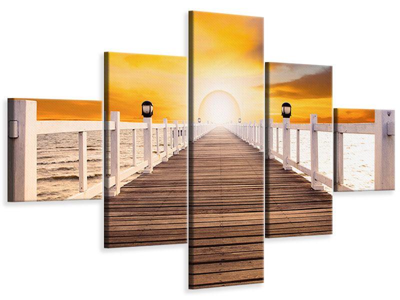 Leinwandbild 5-teilig Die Brücke Ins Glück