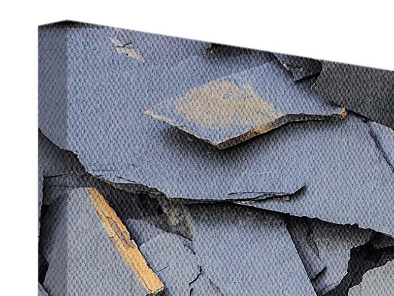 Leinwandbild 5-teilig Schieferplatten