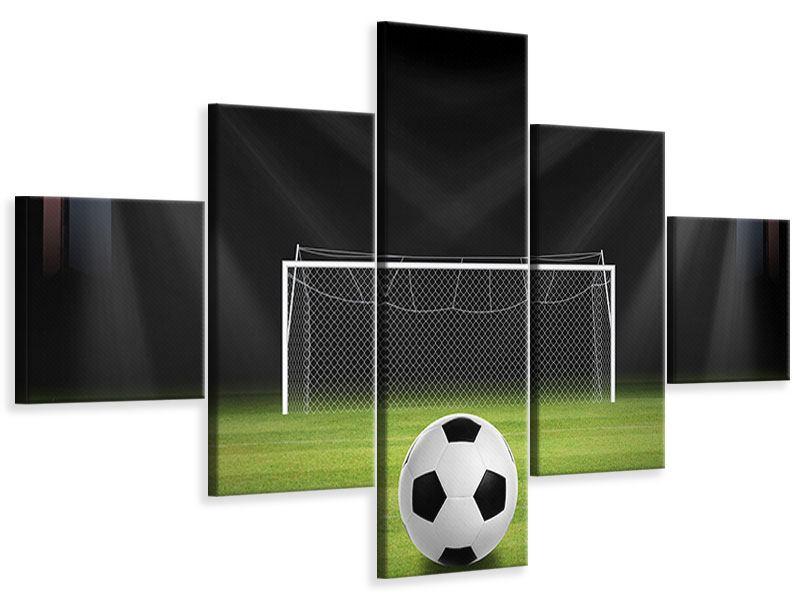 Leinwandbild 5-teilig Fussball-Tor