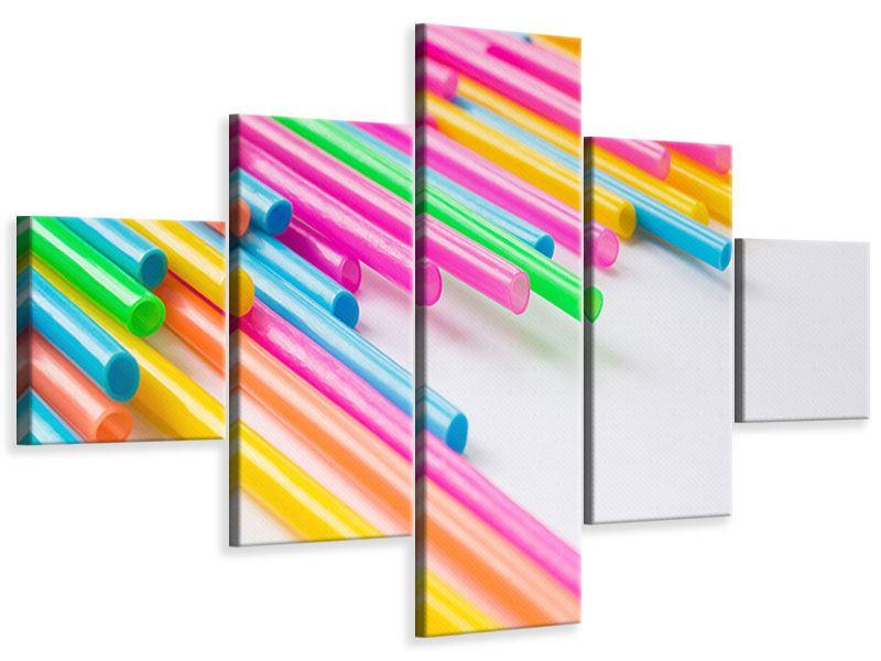 Leinwandbild 5-teilig Pop Art
