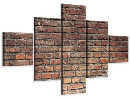 Leinwandbild 5-teilig Brick Wall