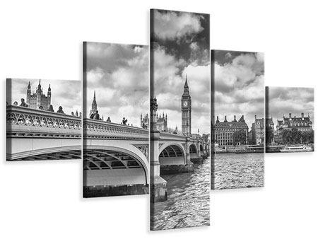 Leinwandbild 5-teilig Westminster Bridge