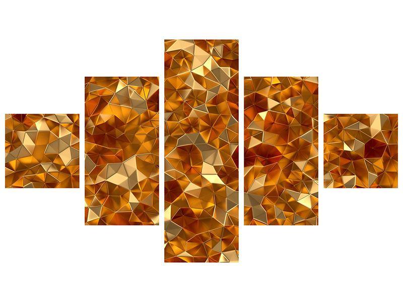 Leinwandbild 5-teilig 3D-Bernsteine