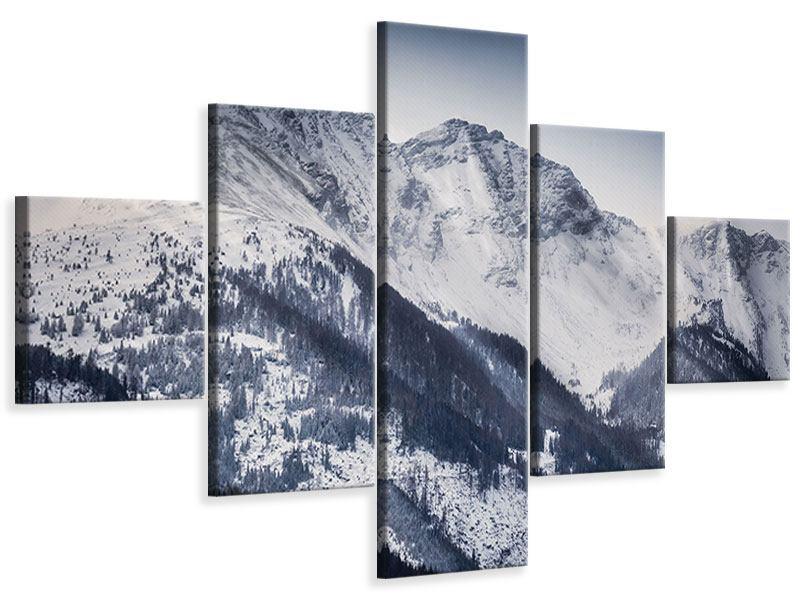 Leinwandbild 5-teilig Die Berge der Schweiz