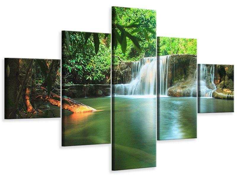 Leinwandbild 5-teilig Element Wasser