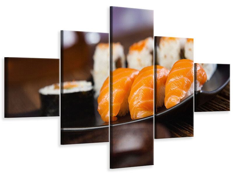 Leinwandbild 5-teilig Sushi-Gericht