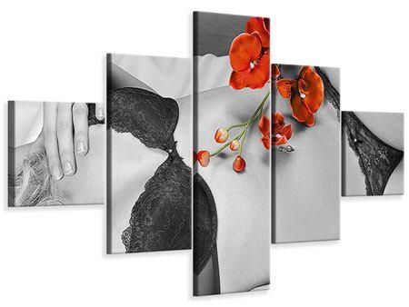 Leinwandbild 5-teilig Dessous-Schönheit