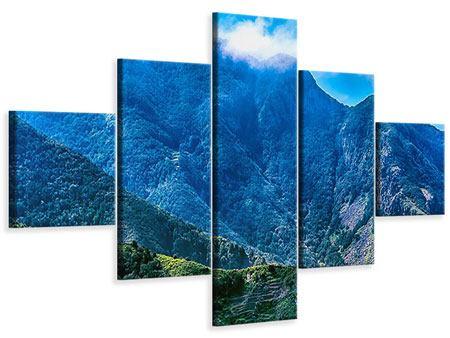 Leinwandbild 5-teilig Die Berglandschaft