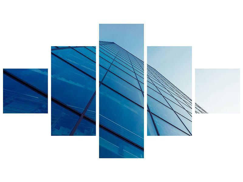 Leinwandbild 5-teilig Wolkenkratzer-Highlight